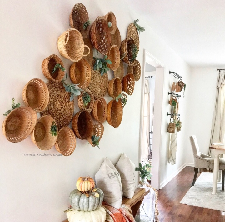 How To Style A Basket Wall