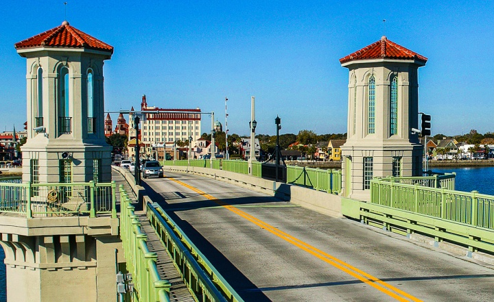 Bridge of Lions; St Augustine, FL; Plate Girder; Painted, Metali